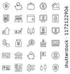 thin line vector icon set  ...   Shutterstock .eps vector #1172122906
