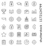 thin line vector icon set  ... | Shutterstock .eps vector #1172124799