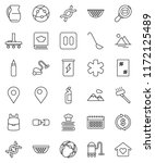 thin line vector icon set  ... | Shutterstock .eps vector #1172125489