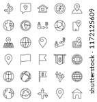 thin line vector icon set  ... | Shutterstock .eps vector #1172125609