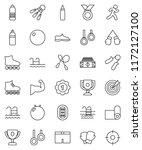 thin line vector icon set  ... | Shutterstock .eps vector #1172127100