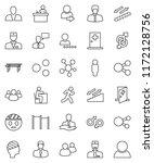 thin line vector icon set  ... | Shutterstock .eps vector #1172128756
