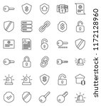 thin line vector icon set  ... | Shutterstock .eps vector #1172128960