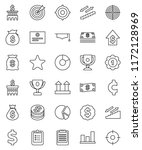 thin line vector icon set  ... | Shutterstock .eps vector #1172128969