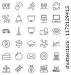 thin line vector icon set  ... | Shutterstock .eps vector #1172129413