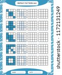 repeat blue pattern. cube grid... | Shutterstock .eps vector #1172131249