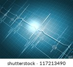 a medical background with a... | Shutterstock . vector #117213490