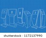 blueprint of six promotional... | Shutterstock .eps vector #1172137990