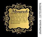 vintage gold border or frame.... | Shutterstock .eps vector #1172139076