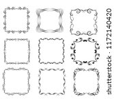 set of vector vintage frames on ... | Shutterstock .eps vector #1172140420