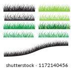 grass edging in varying colours.... | Shutterstock .eps vector #1172140456