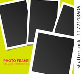 square photo frames on a bright ... | Shutterstock .eps vector #1172143606