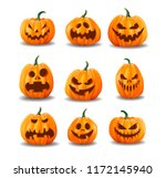set of realistic halloween... | Shutterstock .eps vector #1172145940