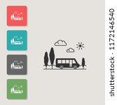 bus   vector icon. symbol for...