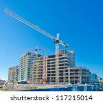 high rise building under... | Shutterstock . vector #117215014
