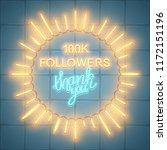 100k followers  social media... | Shutterstock .eps vector #1172151196