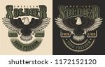 military t shirt print concept. ... | Shutterstock .eps vector #1172152120