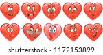 heart collection. emoticons.... | Shutterstock .eps vector #1172153899