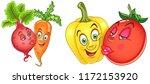 vegetables in love. love kiss.... | Shutterstock .eps vector #1172153920