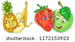 fruits in love. love kiss.... | Shutterstock .eps vector #1172153923