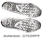 dirty grunge sneaker footprint | Shutterstock .eps vector #1172154979