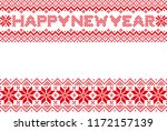 new year card with nordic snow... | Shutterstock .eps vector #1172157139