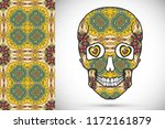 day of the dead colorful sugar... | Shutterstock .eps vector #1172161879