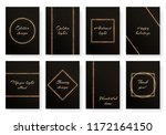 set of bright greeting cards... | Shutterstock .eps vector #1172164150