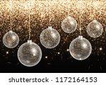 shiny christmas illustration... | Shutterstock .eps vector #1172164153