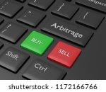 3d render of computer keyboard... | Shutterstock . vector #1172166766