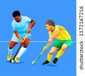 two field hockey players... | Shutterstock .eps vector #1172167216