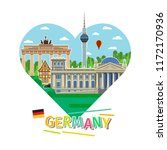 concept of travel to germany or ... | Shutterstock . vector #1172170936