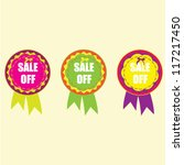 colorful badge | Shutterstock .eps vector #117217450