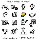 develop yourself for success...   Shutterstock .eps vector #1172176210