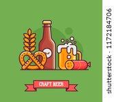 craft beer concept with...   Shutterstock .eps vector #1172184706