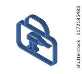 toolbox isometric left top view ... | Shutterstock .eps vector #1172185483