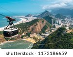 cable car going to sugarloaf... | Shutterstock . vector #1172186659