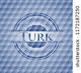 turk blue polygonal badge. | Shutterstock .eps vector #1172187250