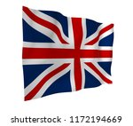 waving flag of the great... | Shutterstock . vector #1172194669