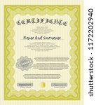 yellow sample diploma. with... | Shutterstock .eps vector #1172202940