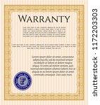 orange formal warranty...   Shutterstock .eps vector #1172203303