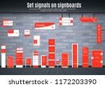 set of signboards for business. ... | Shutterstock .eps vector #1172203390