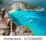 navagio beach  zakynthos island ... | Shutterstock . vector #1172206690