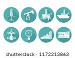 set of graphic flat vector oil... | Shutterstock .eps vector #1172213863