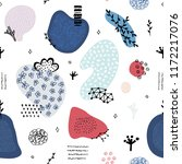 vector seamless pattern with... | Shutterstock .eps vector #1172217076