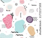 vector seamless pattern with... | Shutterstock .eps vector #1172217103