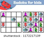 sudoku game for children with... | Shutterstock .eps vector #1172217139