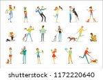 happy people having fun with... | Shutterstock .eps vector #1172220640