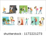 photo studio set  photographers ... | Shutterstock .eps vector #1172221273