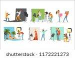 photo studio set  photographers ... | Shutterstock .eps vector #1172221273